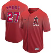 Wholesale Cheap Nike Angels of Anaheim #27 Mike Trout Red Fade Authentic Stitched MLB Jersey
