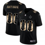 Wholesale Cheap New Orleans Saints Custom Carbon Black Vapor Statue Of Liberty Limited NFL Jersey
