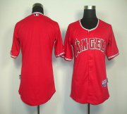 Wholesale Angels of Anaheim Blank Red Cool Base Stitched Baseball Jersey