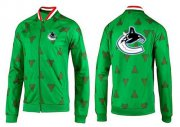 Wholesale NHL Vancouver Canucks Zip Jackets Green-2