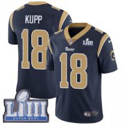 Wholesale Cheap Nike Rams #18 Cooper Kupp Navy Blue Team Color Super Bowl LIII Bound Youth Stitched NFL Vapor Untouchable Limited Jersey