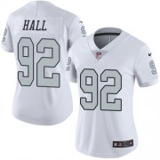 Wholesale Cheap Nike Raiders #92 P.J. Hall White Women's Stitched NFL Limited Rush Jersey