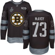 Wholesale Cheap Adidas Bruins #73 Charlie McAvoy Black 1917-2017 100th Anniversary Stanley Cup Final Bound Stitched NHL Jersey