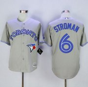 Wholesale Cheap Blue Jays #6 Marcus Stroman Grey New Cool Base Stitched MLB Jersey