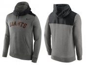 Wholesale Cheap Men's San Francisco Giants Nike Gray Cooperstown Collection Hybrid Pullover Hoodie