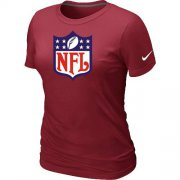 Wholesale Cheap Women's Nike NFL Logo NFL T-Shirt Red