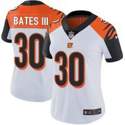 Wholesale Cheap Nike Bengals #30 Jessie Bates III White Women's Stitched NFL Vapor Untouchable Limited Jersey