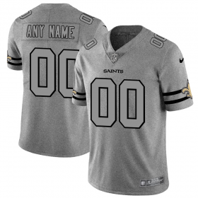 Wholesale Cheap New Orleans Saints Custom Men\'s Nike Gray Gridiron II Vapor Untouchable Limited NFL Jersey