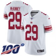 Wholesale Cheap Nike Giants #29 Xavier McKinney White Youth Stitched NFL 100th Season Vapor Untouchable Limited Jersey
