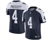 Wholesale Cheap Youth Dallas Cowboys #4 Dak Prescott Navy Blue Thanksgiving Men's Stitched Football Vapor Throwback Limited Jersey