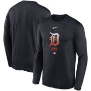 Wholesale Cheap Men's Detroit Tigers Nike Navy Authentic Collection Legend Performance Long Sleeve T-Shirt