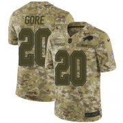 Wholesale Cheap Nike Bills #20 Frank Gore Camo Men's Stitched NFL Limited 2018 Salute To Service Jersey