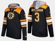 Wholesale Cheap Bruins #3 Lionel Hitchman Black Name And Number Hoodie