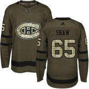 Wholesale Cheap Adidas Canadiens #65 Andrew Shaw Green Salute to Service Stitched Youth NHL Jersey