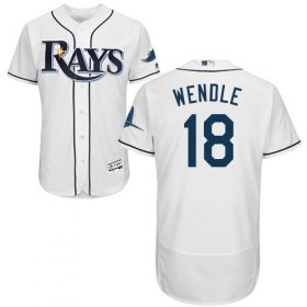 Wholesale Cheap Rays #18 Joey Wendle White Flexbase Authentic Collection Stitched MLB Jersey