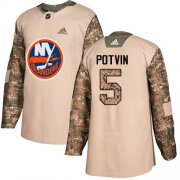 Wholesale Cheap Adidas Islanders #5 Denis Potvin Camo Authentic 2017 Veterans Day Stitched NHL Jersey