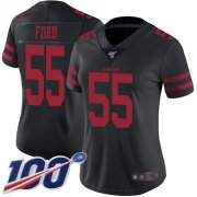 Wholesale Cheap Nike 49ers #55 Dee Ford Black Alternate Women's Stitched NFL 100th Season Vapor Limited Jersey
