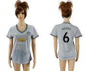 Wholesale Cheap Women's Manchester United #6 Pogba Sec Away Soccer Club Jersey