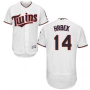 Wholesale Cheap Twins #14 Kent Hrbek White Flexbase Authentic Collection Stitched MLB Jersey