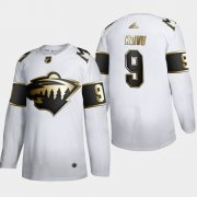 Wholesale Cheap Minnesota Wild #9 Mikko Koivu Men's Adidas White Golden Edition Limited Stitched NHL Jersey