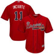 Wholesale Cheap Braves #11 Ender Inciarte Red Cool Base Stitched Youth MLB Jersey