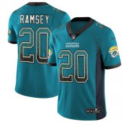 Wholesale Cheap Nike Jaguars #20 Jalen Ramsey Teal Green Alternate Men's Stitched NFL Limited Rush Drift Fashion Jersey