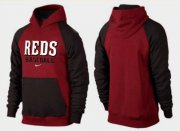 Wholesale Cheap Cincinnati Reds Pullover Hoodie Burgundy Red & Black