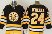 Wholesale Cheap Bruins #24 Terry O'Reilly CCM Throwback Black Stitched NHL Jersey