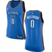 Wholesale Cheap Nike Oklahoma City Thunder #0 Russell Westbrook Blue Women's NBA Swingman Icon Edition Jersey