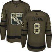 Wholesale Cheap Adidas Rangers #8 Jacob Trouba Green Salute to Service Stitched NHL Jersey