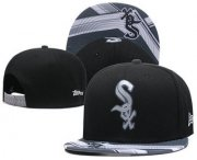 Wholesale Cheap Chicago White Sox Snapback Ajustable Cap Hat GS 8