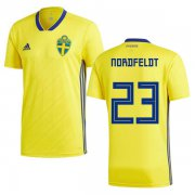 Wholesale Cheap Sweden #23 Nordfeldt Home Soccer Country Jersey