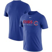 Wholesale Cheap Chicago Cubs Nike MLB Practice T-Shirt Royal