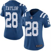Wholesale Cheap Nike Colts #28 Jonathan Taylor Royal Blue Women's Stitched NFL Limited Rush Jersey