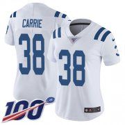 Wholesale Cheap Nike Colts #38 T.J. Carrie White Women's Stitched NFL 100th Season Vapor Untouchable Limited Jersey
