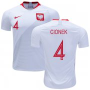 Wholesale Cheap Poland #4 Cionek Home Soccer Country Jersey