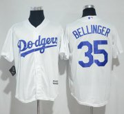 Wholesale Cheap Dodgers #35 Cody Bellinger White New Cool Base Stitched MLB Jersey