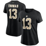 Wholesale Cheap New Orleans Saints #13 Michael Thomas Nike Women's Team Player Name & Number T-Shirt Black