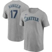 Wholesale Cheap Seattle Mariners #17 Mitch Haniger Nike Name & Number T-Shirt Gray