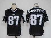 Wholesale Cheap Patriots #87 Rob Gronkowski Black Shadow Stitched NFL Jersey