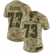 Wholesale Cheap Nike Vikings #73 Sharrif Floyd Camo Women's Stitched NFL Limited 2018 Salute to Service Jersey