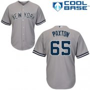 Wholesale Cheap Yankees #65 James Paxton Grey New Cool Base Stitched Youth MLB Jersey