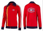 Wholesale Cheap NHL Montreal Canadiens Zip Jackets Orange-2