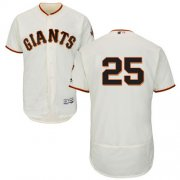 Wholesale Cheap Giants #25 Barry Bonds Cream Flexbase Authentic Collection Stitched MLB Jersey