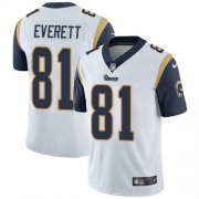 Wholesale Cheap Nike Rams #81 Gerald Everett White Men's Stitched NFL Vapor Untouchable Limited Jersey