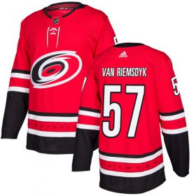 Wholesale Cheap Adidas Hurricanes #57 Trevor Van Riemsdyk Red Home Authentic Stitched NHL Jersey