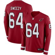 Wholesale Cheap Nike Cardinals #64 J.R. Sweezy Red Team Color Men's Stitched NFL Limited Therma Long Sleeve Jersey
