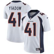 Wholesale Cheap Nike Broncos #41 Isaac Yiadom White Men's Stitched NFL Vapor Untouchable Limited Jersey