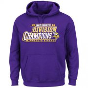 Wholesale Cheap Men's Minnesota Vikings Majestic Purple 2015 NFC North Division Champions Pullover Hoodie