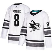 Wholesale Cheap Adidas Sharks #8 Joe Pavelski White Authentic 2019 All-Star Stitched Youth NHL Jersey